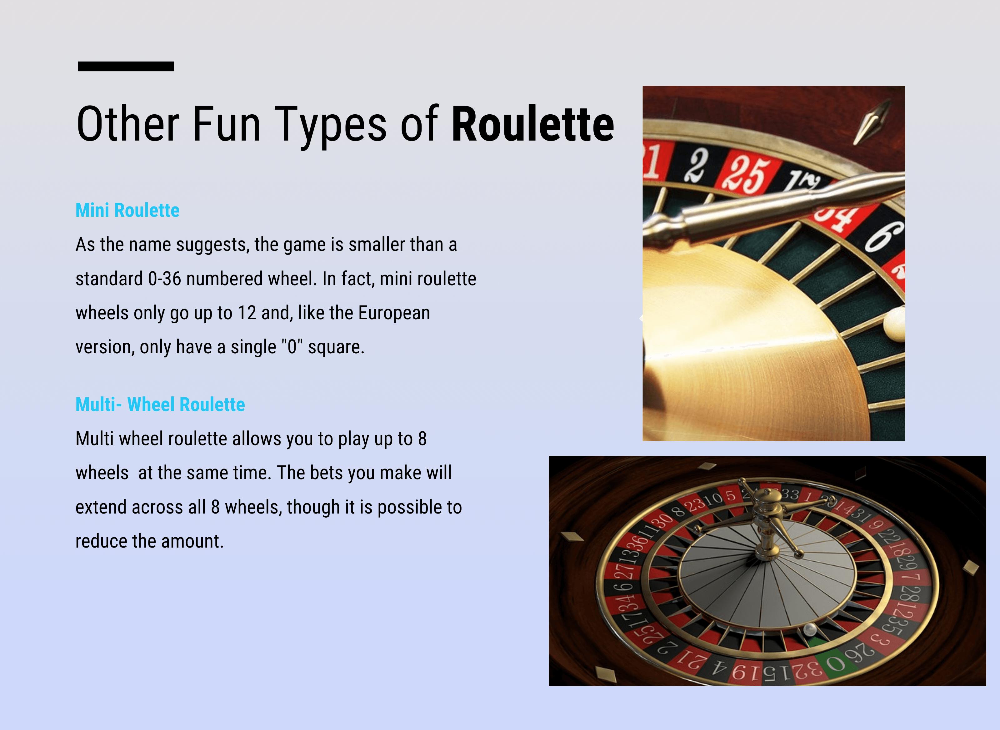 Roulette-Wheel-Versions